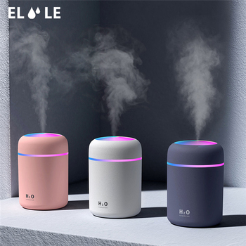 USB Mini Protable Air Humidifier Ultrasonic Aroma Oil Essential  Diffuser Mist Maker With Colorful Light For Home Car Office usb car aroma humidifier ultrasonic mist maker mini aroma essential oil diffuser aromatherapy for home office living room