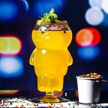Verre à Cocktail créatif ours de petite capacité 230ml, verre à bière Transparent pour la maison, verres de Brandy, de Vodka, verre à vin de personnalité pour Bar