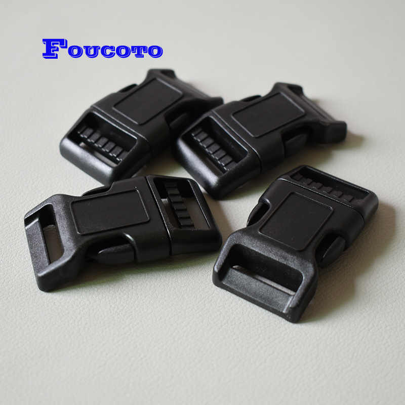 20pcs Resin Side Release Buckle Dog Collars Luggage Straps Buckle Clip 10 mm