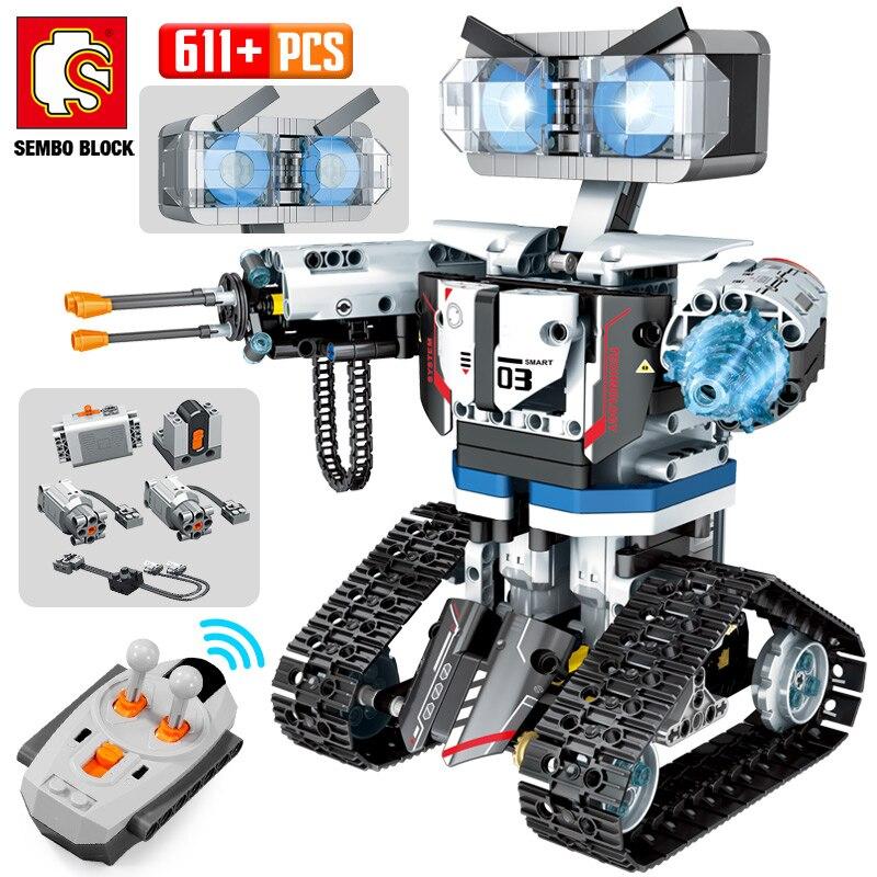 Новый высокотехнологичный радиоуправляемый робот SEMBO, строительные блоки, конструктор с дистанционным управлением, Интеллектуальный робо...