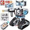 NEUE SEMBO Hohe-Tech RC Roboter Bausteine Creator Stadt Fernbedienung Intelligente Roboter Auto Waffe Ziegel Spielzeug Für kinder