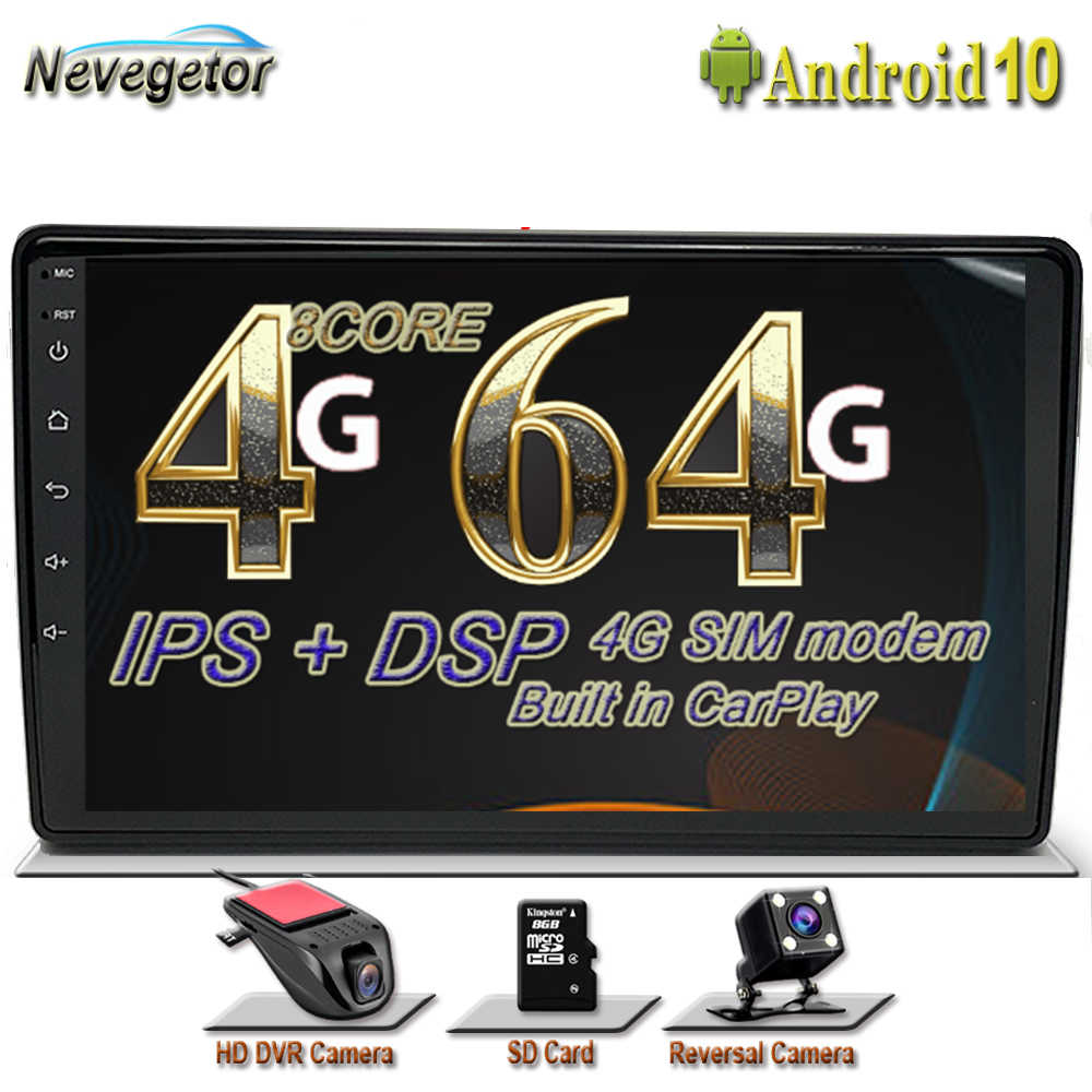 64GB Intel GPS Android 10 Auto Radio DVD Player per Audi A4 B8 S4 B6 B7 RS4 8E 8H B9 Seat Exeo 2002-2008 Multimeida NavigationDSP