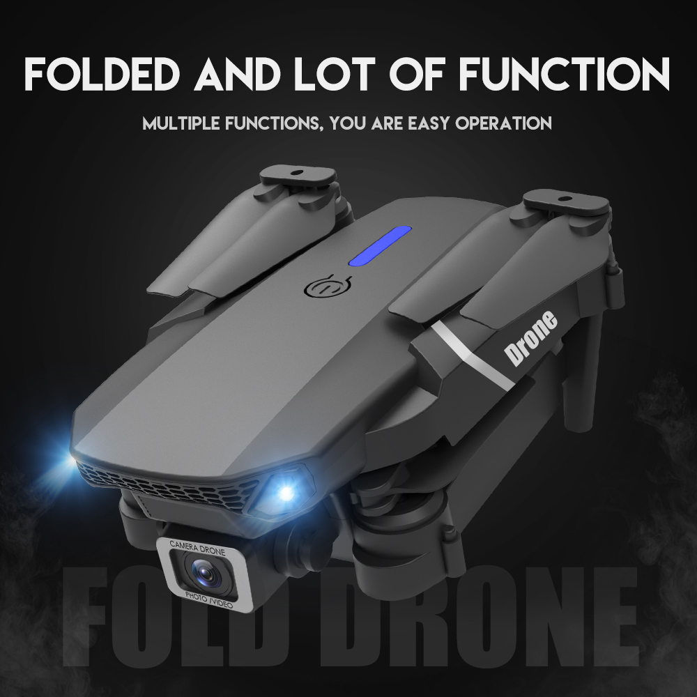 XKJ 2021 New E88 Pro Drone With Wide Angle HD 4K 1080P Dual Camera Height Hold Wifi RC Foldable Quadcopter Dron Gift Toy 6