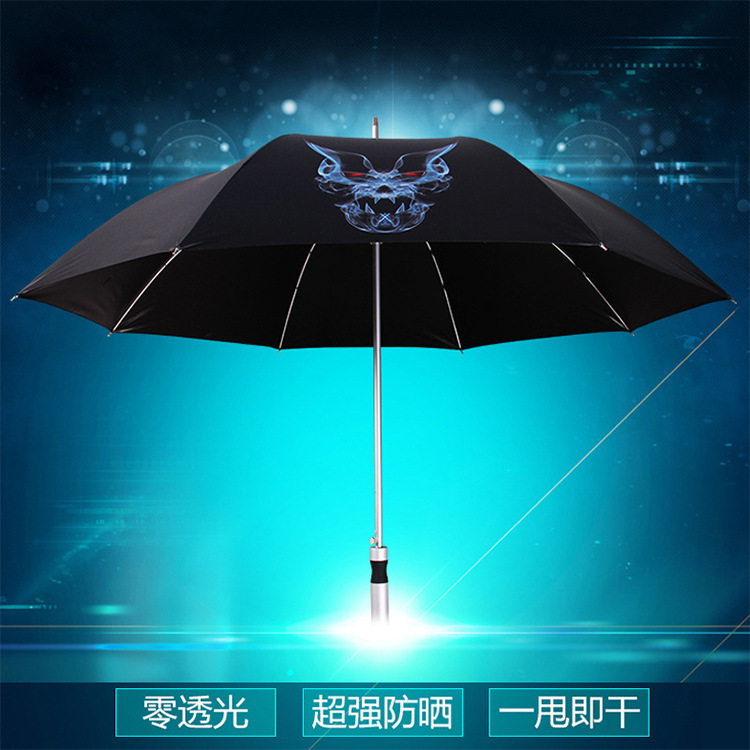 Parasol Anime Peripheral Umbrella Ultra-strength Sun-resistant Vinyl Umbrella Ultra Large Ultra-Light Straight Handle Umbrella