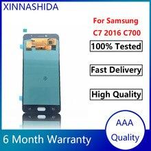 5.7 pouces AMOLED LCD Pour Samsung Galaxy C7 C7000 SM-C7000 L'assemblée de convertisseur analogique-Numérique D'écran Tactile d'affichage d'affichage à cristaux liquides de Remplacement Pour C7 LCD