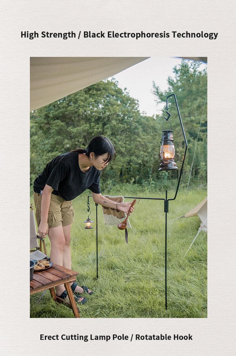 Naturehike acampamento ao ar livre ferro lâmpada