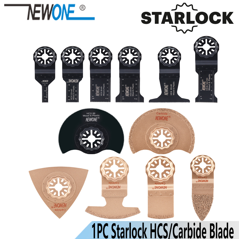 NEWONE 1pc HCS  Carbide Starlock Oscillating Tools Saw Blades Multi-tool Renovator Blade For Wood Plastic Working Remove Soils