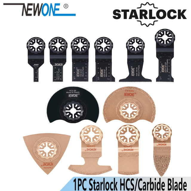 NEWONE 1pc HCS Carbide Starlock narzędzia oscylacyjne brzeszczoty do pił multi tool Renovator ostrze do obróbki drewna z tworzywa sztucznego usuń gleby