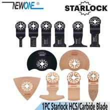 NEWONE 1pc HCS קרביד Starlock נדנוד כלים מסור להבים רב כלי שיפוצניק להב לעץ פלסטיק עבודה להסיר קרקעות