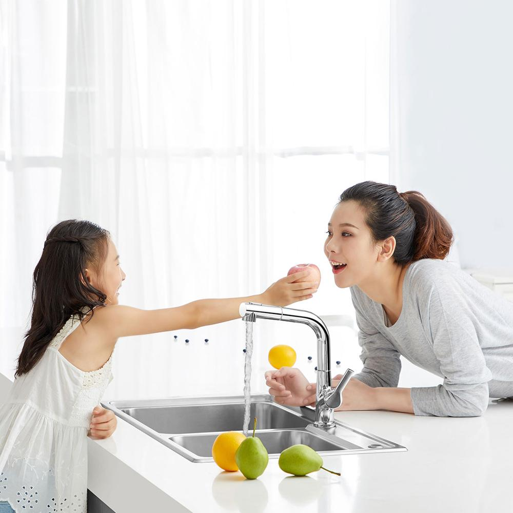 Image 3 - Xiaomi Dabai Bathroom Basin Sink Faucet w/ Pull Out Rinser 