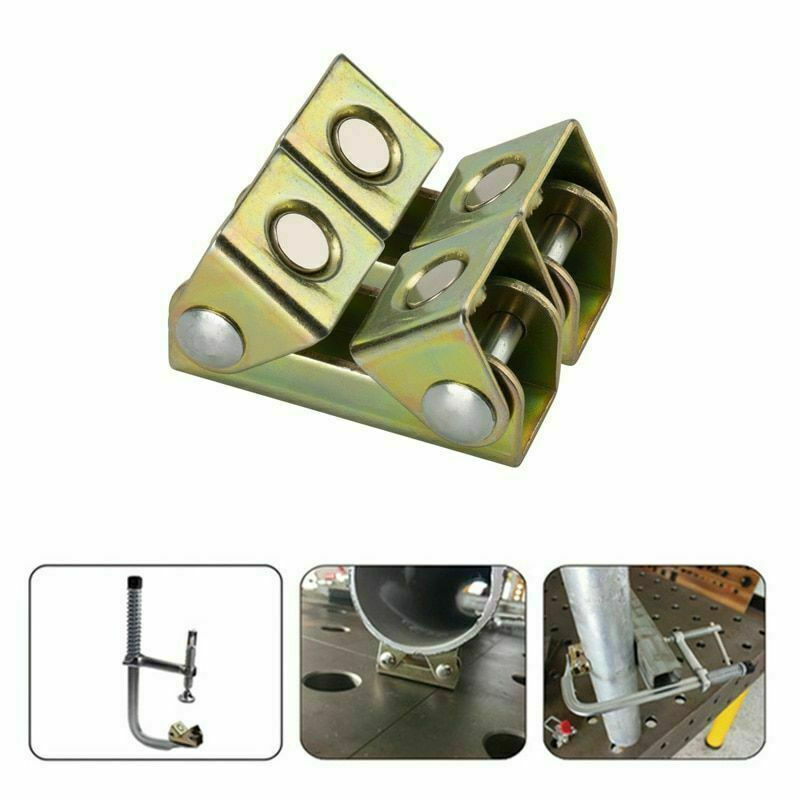 Magnetic Weld Holders V-Type Clamps V-Shaped Magnetic Welding Fixture Adjustable Magnetic V-Pads Strong Hand Tool