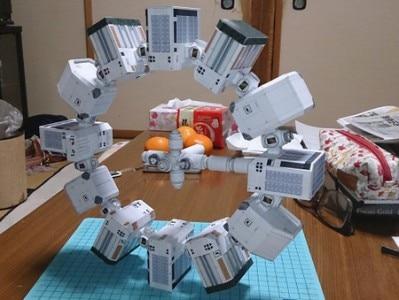 Interstellar Cross Endurance- Fortitude 3D Paper Model DIY