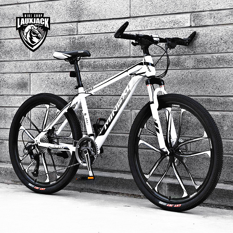 New Brand Mountain Bike Carbon Steel Frame 24/26 Inch Wheel 27 Speed Dual Disc Brake Bicycle Outdoor Sports MTB Bicicleta