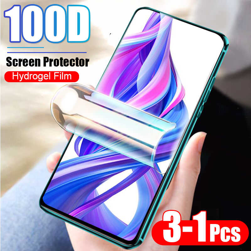 3-1Pcs 100D Protective Hydrogel Film For Huawei Honor 8x 8 9 10 Lite 10i 20 Pro 7a 7c Pro Screen Protector Film Full Cover