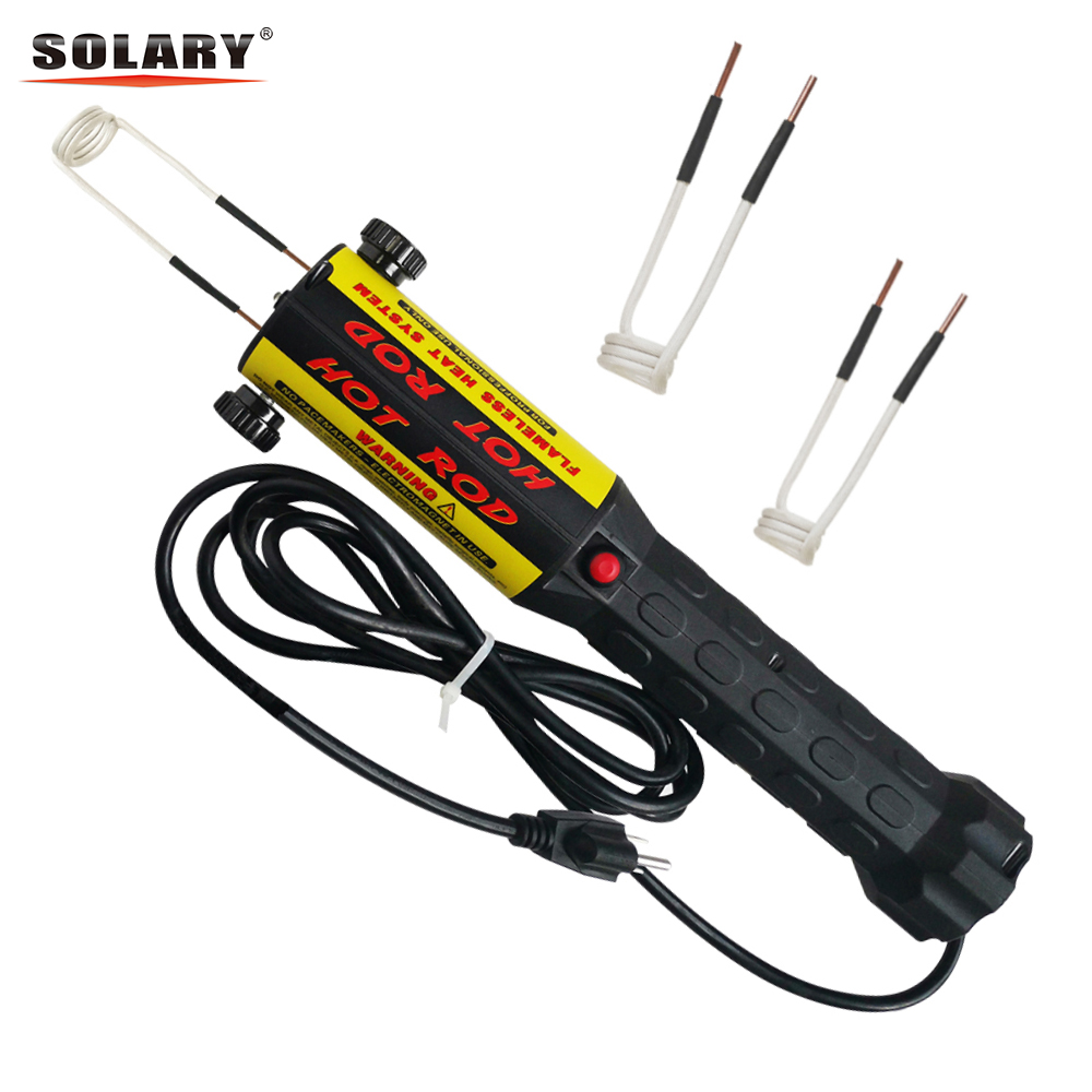 Solary Magnetic Induction Heater Kit 1000W 110V 220V Automotive Flameless Heat Induction Heater With Coils 1KW Car Repair Tool