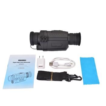 WG535 Digital Night Vision Monoculars 200m full dark DVR NIght Vision Scope 5X Optical Magnification Photo Video Hunting Cameras 6