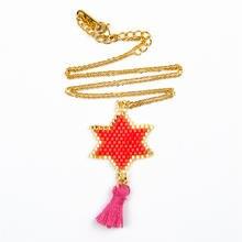 Rttooas miyuki бусы ожерелье ручной работы Тканое звезда колье