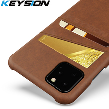 KEYSION Phone Case For iPhone 11 11 Pro Max Cover PU Leather Luxury Wallet Card Slots Back Capa For iPhone XS Max Xr 8 7 6s Plus newest luxury brand spain full grain leather case for iphone 6 7 phone back cover with card slots custom name