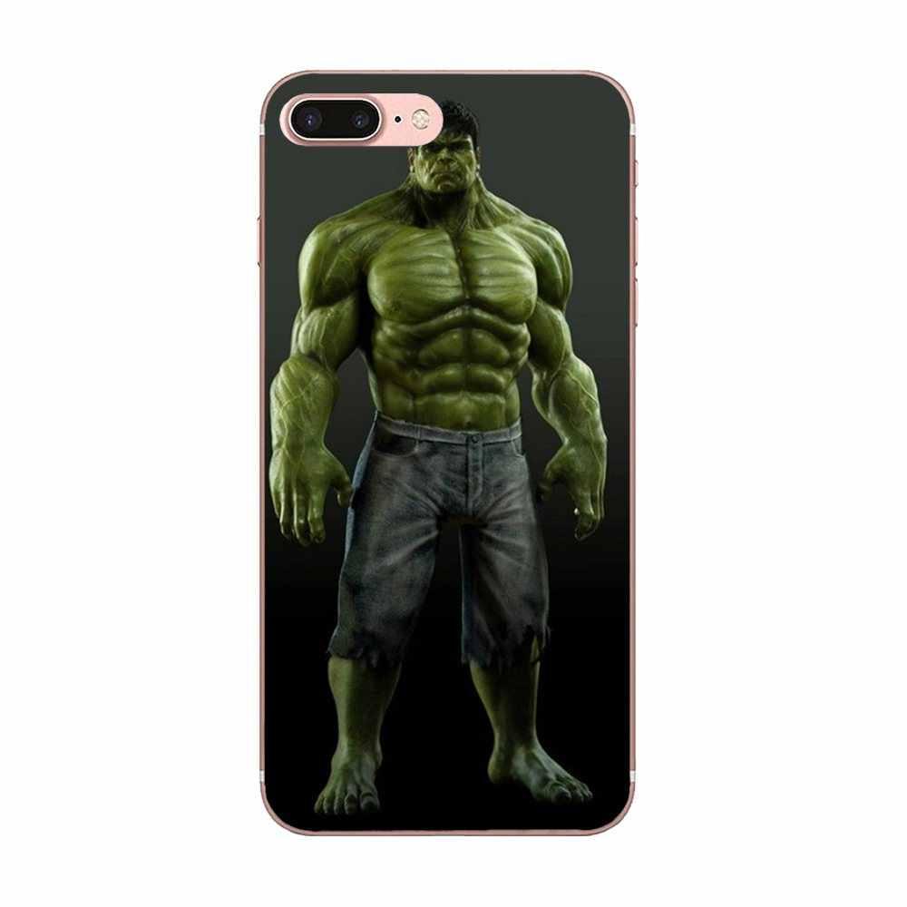 นุ่มสำหรับ Galaxy Grand A3 A5 A7 A8 A9 A9S On5 On7 Plus Pro Star 2015 2016 2017 2018 Incredible Hulk Marvel