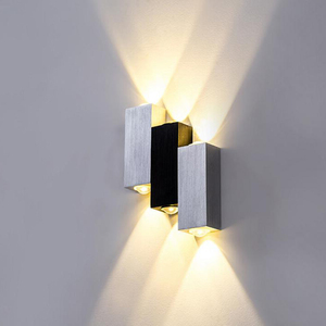 6W LED Wall Lamp Outdoor Square LED Spot Aluminum Modern Black White Home Decoration Light For Bedroom Dinning Room Wandlamp|LED Indoor Wall Lamps| |  -