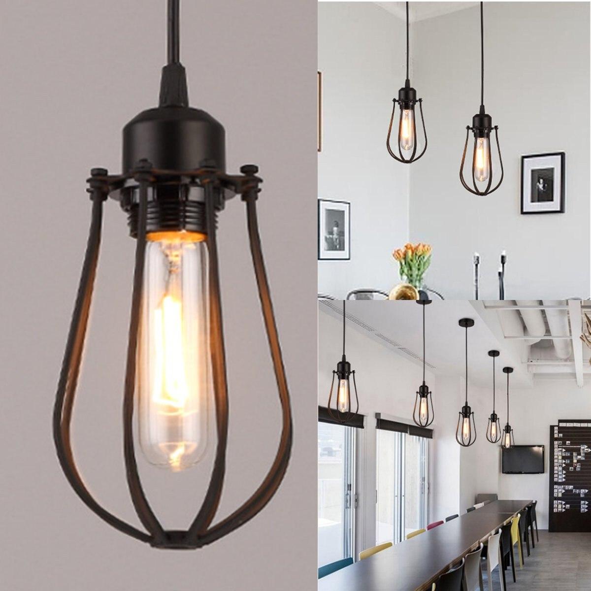 Retro Ceiling Fixtures Vintage Chandelier Industrial Pendant Light HomeDeco Lamp