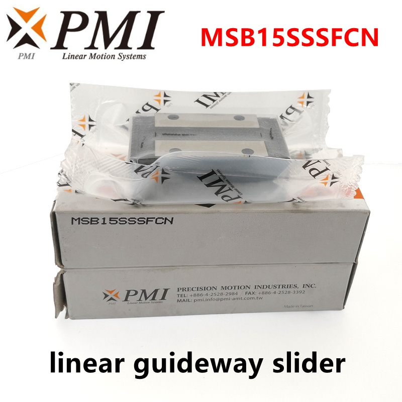 Original Taiwan PMI Linear Guideway Slider Carriage Block MSB15S MSB15S-N MSB15SSSFCN For CO2 Laser Machine CNC Router