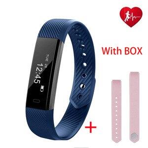 Nueva pulsera inteligente y correa de repuesto Monitor de ritmo cardíaco durante el sueño recordatorio de mensaje hombres mujeres reloj pulsera para iphone Android