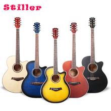 Basswood Guitar Beginners Introduction Guitar 40 Inch Wooden Guitar Boys and Girls Musical Instruments 38 inch acoustic guitar for beginners folk guitar 6 strings basswood guitar 13 colors high quality music instruments agt16
