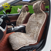 Universal Car Seat Covers Mouton Sheepskin Car Seat Cushion Fit All Cars Seat Protector Covers Automobiles Interior Accessories