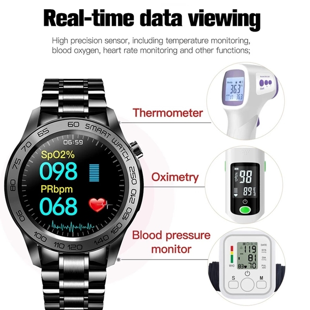 LIGE New Sports Smart Watch Men Fitness Tracker Full Touch Smart Bracelet Woman Temperature Monitor Smartwatch For Android IOS 2