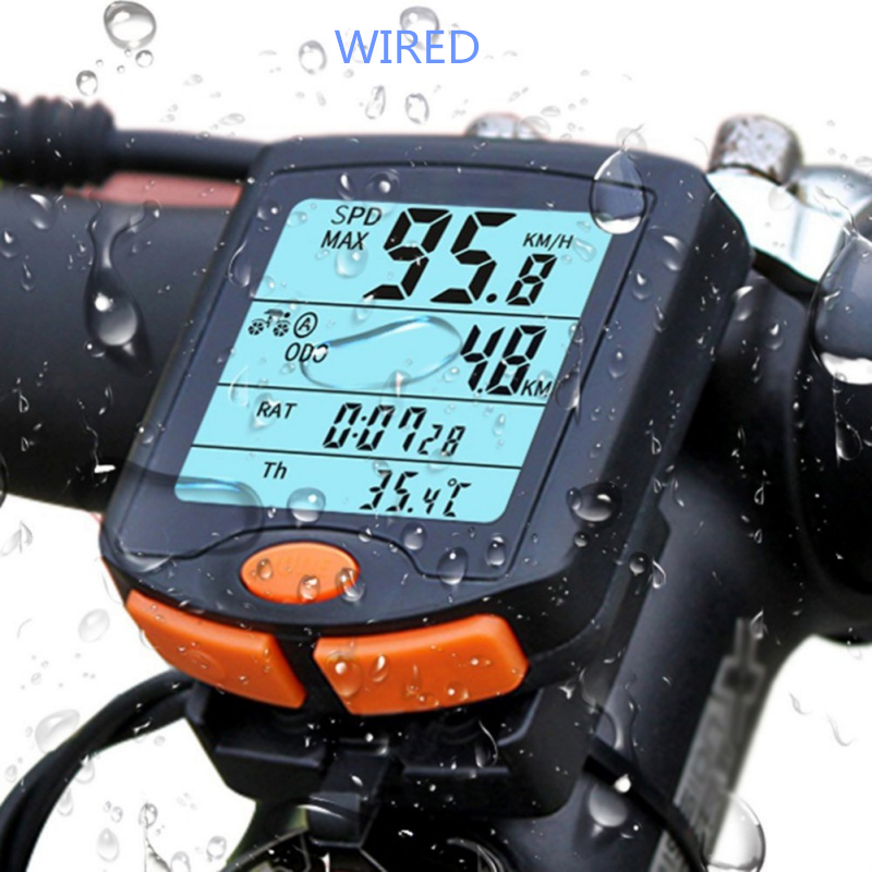 BoGeer Waterproof Imported Sensors Digital LCD Backlit Cycling Bicycle Computer Bike Speedometer Odometer YT-813 pochette étanche pour téléphone