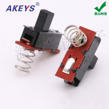 10pcs SS-11H01 single row 2 two gear with spring with mounting hole vertical toggle switch power spring button