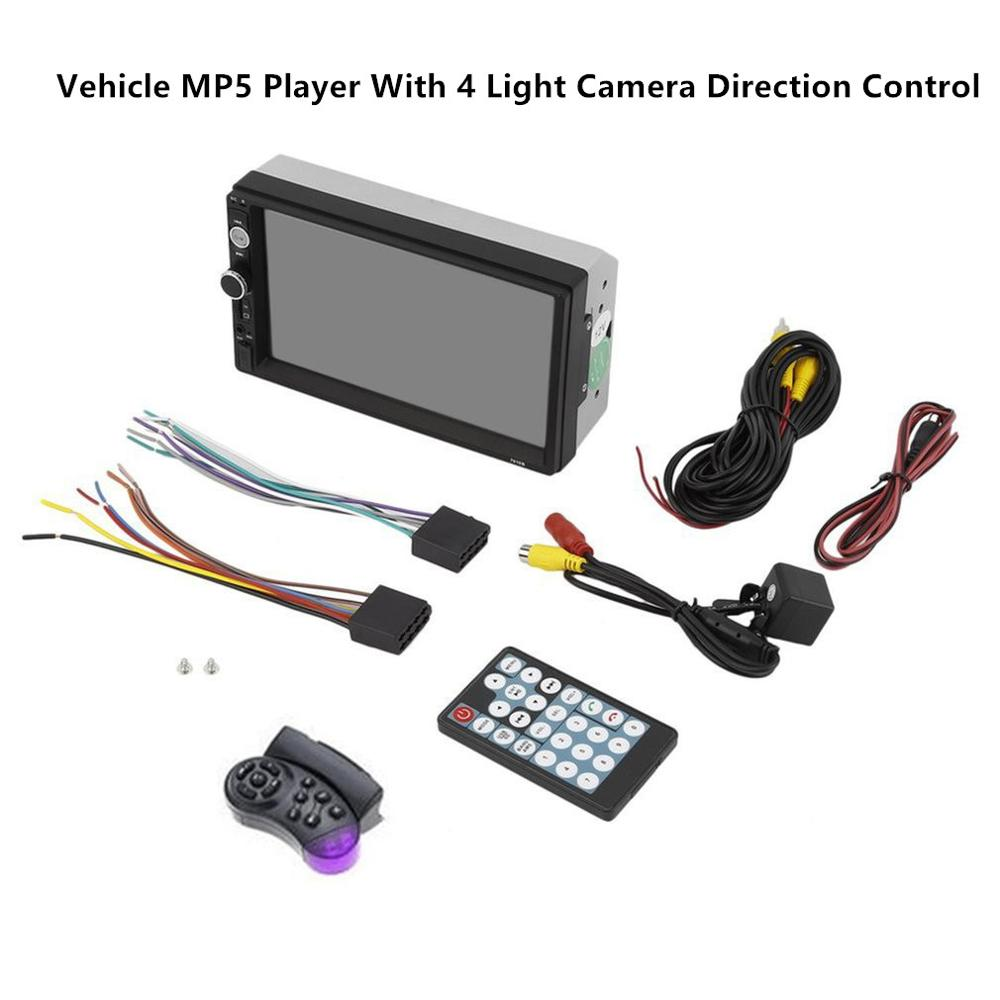 7010B <font><b>7</b></font> Inch DOUBLE <font><b>2DIN</b></font> Car MP5 Player BT Touch Screen Stereo Radio HD Multimedia player Support same screen image