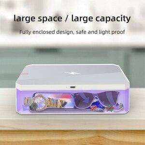 Image 5 - Smart LED UV Sterilisator Box Für Marks Nägel Accessoires Comestics Werkzeuge Wiederaufladbare Smart Telefon Desinfektion Box Reinigung