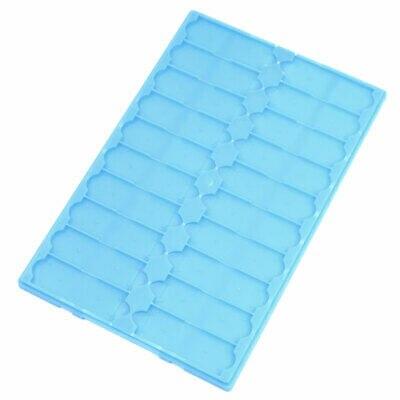 Blue Plastic Microscope Glass Storing Organizer Slide Box For 20 Slides