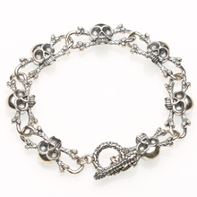2020 ladies 925 sterling silver rock skull bracelet skeleton best friend bracelet and bracelet student jewelry gift