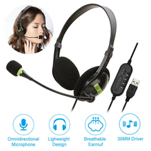 Lightweight USB Headset with Noise Cancelling Microphone for PC Computer Headset Lightweight Wired Headphones heared clearly philips shp9500 professional headphones with active noise cancelling 3 meter long headset for xiaomi mp3 official test