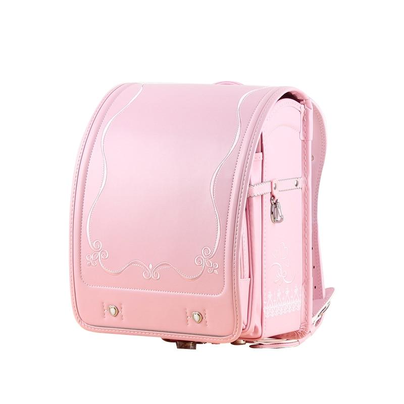 2020 Children school bag for girls orthopedic backpack kids Japanese School bag for Embroidery flower Student book bags for lock