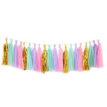 5Pcs 14Inch Tissue Paper Tassel For Wedding Birthday Party Decoration DIY Baby Shower Event Supplies