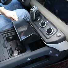 Para land rover defender 110 2020-2021car estilo abs preto carro caixa de armazenamento apoio de braço central caixa de telefone acessórios do carro
