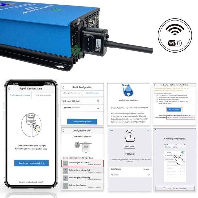 1000W Solar Inverter Grid Tie MPPT MIcro inversor Battery Discharge Power Mode with Internal Limiter Sensor 24 48 VDC 95 265VAC|Solar Inverters|   -
