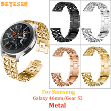 22mm metal watch band For Samsung Galaxy 46mm/gear S3 watches strap For huawei watch GT 2 Bracelet Replacement leisure wristband stainless steel for huawei watch gt watches strap 22mm for samsung galaxy 46mm gear s3 watch band replacement bracelet wristband
