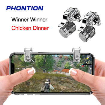 PUBG Controller R11 Metal Gamepad PUBG Mobile Trigger Control Smartphone Gamepad L1R1 Gaming Shooter for Iphone Android Chicken фото