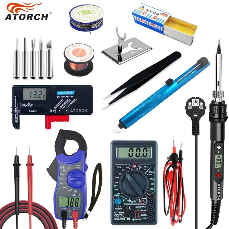 80W 110V/220V Electric Soldering Iron Temperature Adjustable Welding Solder Iron Rework Station Soldering Iron Accessories
