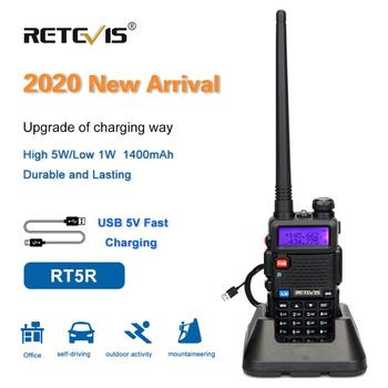 Retevis RT5R Walkie Talkie 5W UHF + VHF  Radio USB Charger VOX FM Ham Station Portable Transceiver Comunicador for Hunting - discount item  40% OFF Walkie Talkie