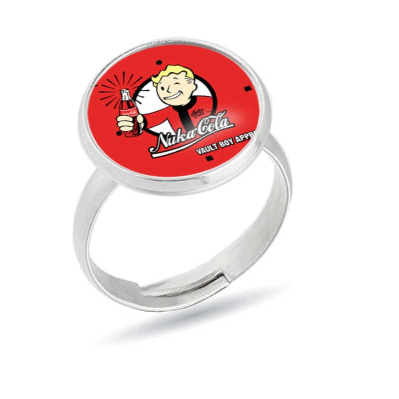ใหม่ Fallout Nuka Cola แหวนแก้วบุรุษและสตรีแหวนแฟชั่นเครื่องประดับ Anillos แฟน Fallout ของขวัญคริสต์มาสของขวัญ