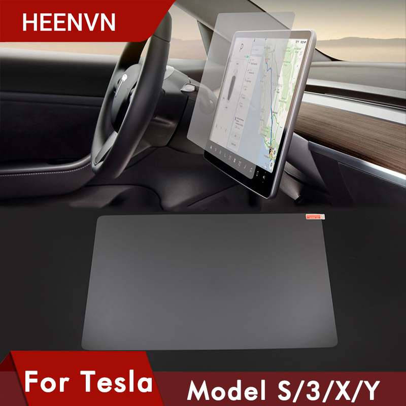 Heenvn Tempered Glass For Tesla Model 3 Y S X Accessories Center Control Touchscreen Car Navigation Touch Screen Protector Film