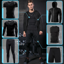 купить Gym Tight Men's Sportswear Compression Running Sport Set Basketball Sports Clothing Fitness Workout Tracksuit Breathable Jogging онлайн