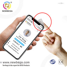 NTAG213 Chip NFC Sticker,10*20mm Universal SMALL SIZE Label,Support URL Write Inisde,13.56MHZ RFID Programmer Tag
