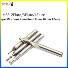 цена на 1 piece high quality HSS carbide milling cutter tool diameter CNC 12mm4 blades flute mill cutter straight handle solid  drill bi